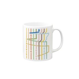 Git Stripe Mugs