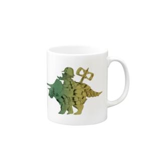 恐竜おもちゃくん透過 Mugs