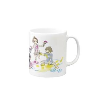 お絵描き女の子男の子 Mugs