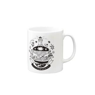 飛行船都市 【A】 星の中型船 Mugs
