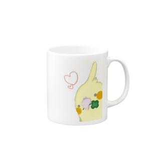 おかめいんこ Mugs