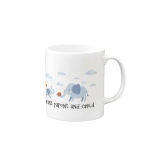 象の親子【あかえほ公式】 Mugs