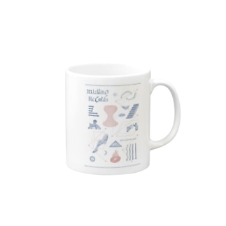 mizuirorecords book collage Mugs