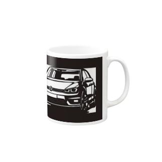 Volkswagen Golf切り絵デザイン マグカップ