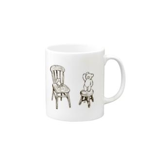 椅子とクマ Mugs