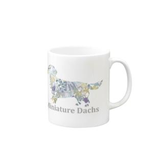 花 ボタニカル ダックス Mugs
