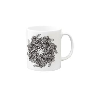 GroEL-GroES複合体 モノクロ Mugs