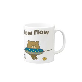 流れに身をゆだねるクマ Mugs
