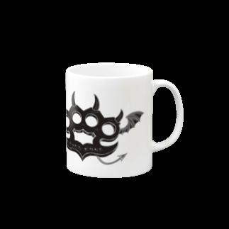 Ryoku のRyoku-Knuckle devil b-mug マグカップ