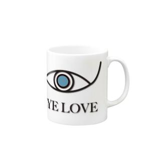 EYE LOVE Mugs