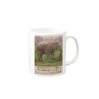 ネパールの象 Mugs