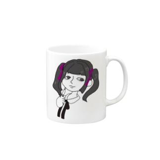 犬田蜜華梨(inudamitukari)のツインテールの女の子 Mugs
