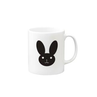 黒うさ。 Mugs