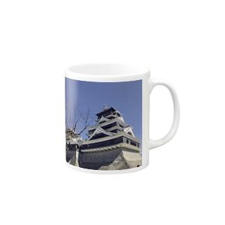 I LOVE 熊本 Mugs