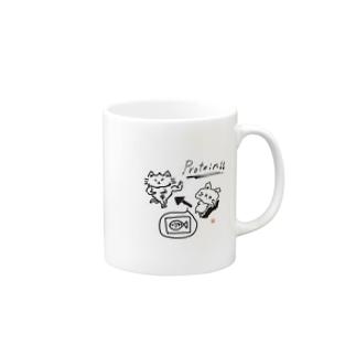 プロテインねこ Mugs