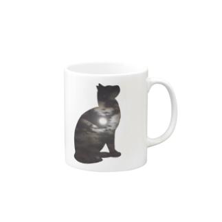 空猫シリーズ(月) Mugs
