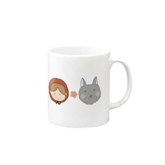 yuuオリジナルイラスト24 赤ずきんとオオカミ Mugs