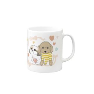 なかよし シーズー&プードル Mugs