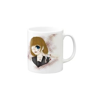 メンヘラ少女 Mugs