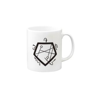 ナコト五角形bk Mugs