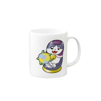 ネコリョーシカ Mugs