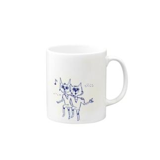 Tse_Nekoのツェ・猫(仲良し) Mugs