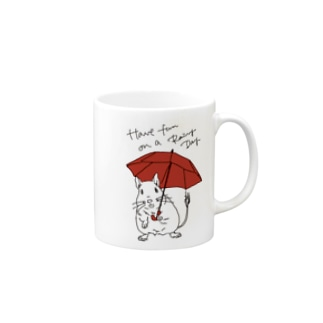 Have fun on a Rainy day (Red Umbrella) Mugs