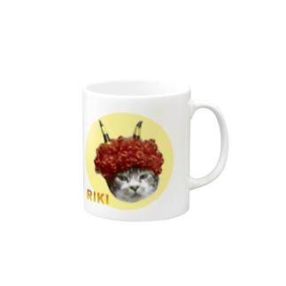 赤鬼リキちゃん×宇宙猫 Mugs