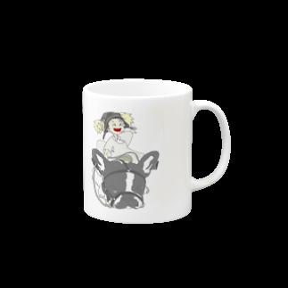 ★いろえんぴつ★の犬と少女 Mugs