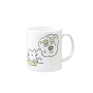 パン生地こねこネコ Mugs