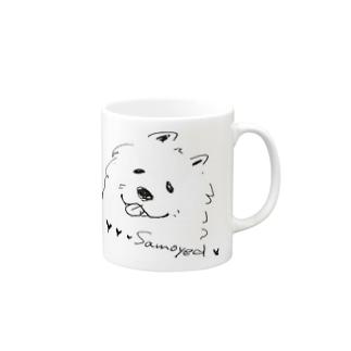 MOFUMOFU uniple_samoyed Mugs