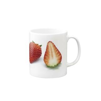 いちご、マグカップ Mugs