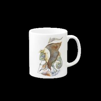 松野和貴のカメレオン王マグカップ