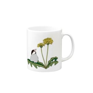文鳥とタンポポ Mug