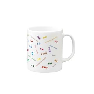 医療従事者 略語 colorful Mugs