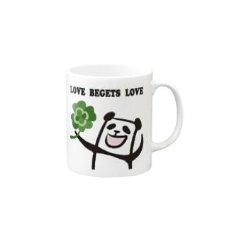 LOVE BEGETS LOVE Mugs