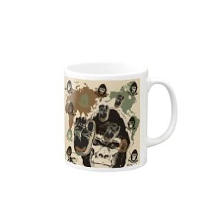 ゴリゴリの迷彩柄 Mugs