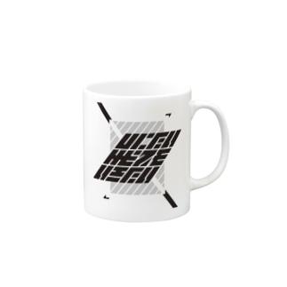 しにたいけどでもいきたい #WHITE Mugs