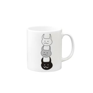 尖っている Mugs