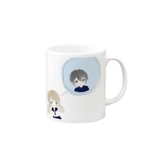 片思いマグカップ(?) Mugs