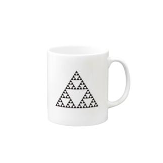 Fractal Sierpinski Triangle Mugs
