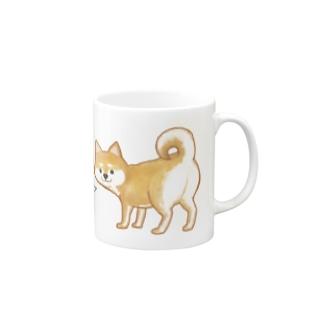 カワイイ顔でイヤミを言う柴犬 Mug