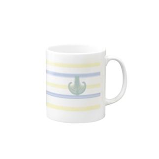 Prism coffee beanのジェラートラテアート~Landscape~ /パイナップル×ブルーハワイ Mugs