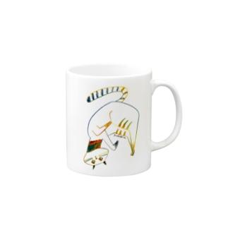 ストレッチ猫 Mugs