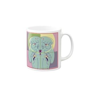 一つふたり Mugs
