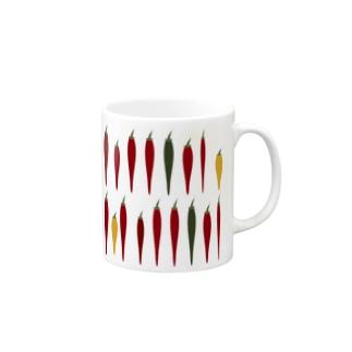 とうがらし集合 Mugs