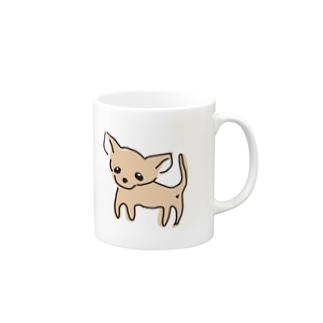 ゆるチワワ(オレンジ) Mugs