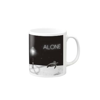 ANOTHER GLASSのALONE Mugs