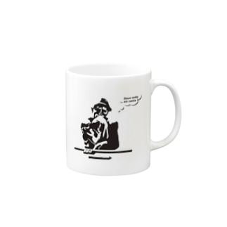 考える人 マグカップ Mugs