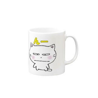 白猫のミャウ Mugs